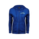 ENZA Ladies Royal Fleece Full Zip Hoodie-Arched Islanders
