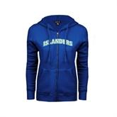 ENZA Ladies Royal Fleece Full Zip Hoodie-Arched Islanders