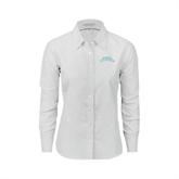 Ladies White Oxford Shirt-Arched Texas A&M Corpus Christi