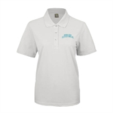 Ladies Easycare White Pique Polo-Arched Texas A&M Corpus Christi