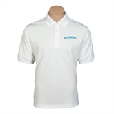 White Dry Mesh Polo-Arched Islanders
