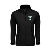 Ladies Black Softshell Jacket-Islanders w/I