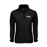 Ladies Black Softshell Jacket-Arched Texas A&M Corpus Christi