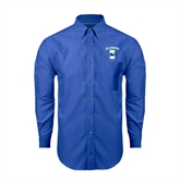 Mens Royal Oxford Long Sleeve Shirt-Islanders w/I
