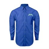 Mens Royal Oxford Long Sleeve Shirt-Arched Texas A&M Corpus Christi