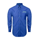 Mens Royal Oxford Long Sleeve Shirt-Arched Islanders