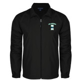 Full Zip Black Wind Jacket-Islanders w/I