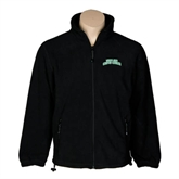Fleece Full Zip Black Jacket-Arched Texas A&M Corpus Christi