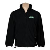 Fleece Full Zip Black Jacket-Arched Texas A&M Corpus Christi