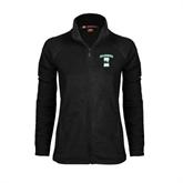 Ladies Fleece Full Zip Black Jacket-Islanders w/I