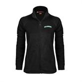 Ladies Fleece Full Zip Black Jacket-Arched Islanders
