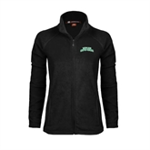 Ladies Fleece Full Zip Black Jacket-Arched Texas A&M Corpus Christi
