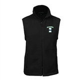 Fleece Full Zip Black Vest-Islanders w/I