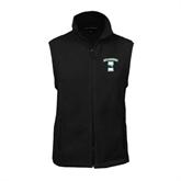 Fleece Full Zip Black Vest-Islanders w/I
