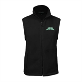 Fleece Full Zip Black Vest-Arched Texas A&M Corpus Christi