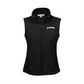 Ladies Fleece Full Zip Black Vest-Arched Islanders