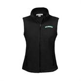 Ladies Fleece Full Zip Black Vest-Arched Islanders