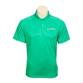 Kelly Green Textured Saddle Shoulder Polo-Arched Islanders