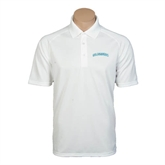 White Textured Saddle Shoulder Polo-Arched Islanders