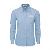 Ladies Light Blue Oxford Shirt-Arched Texas A&M Corpus Christi