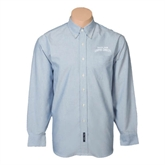 Mens Light Blue Oxford Long Sleeve Shirt-Arched Texas A&M Corpus Christi
