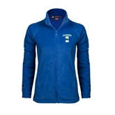 Ladies Fleece Full Zip Royal Jacket-Islanders w/I