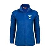 Ladies Fleece Full Zip Royal Jacket-Islanders w/I