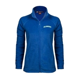 Ladies Fleece Full Zip Royal Jacket-Arched Islanders