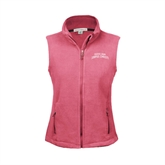 Ladies Fleece Full Zip Raspberry Vest-Arched Texas A&M Corpus Christi