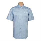Light Blue Twill Button Down Short Sleeve-Arched Texas A&M Corpus Christi