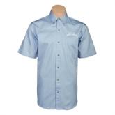 Light Blue Twill Button Down Short Sleeve-Arched Texas A&M Corpus Christi