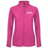 Ladies Fleece Full Zip Raspberry Jacket-Arched Texas A&M Corpus Christi