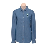Ladies Denim Long Sleeve Shirt-Islanders w/I
