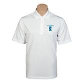 White Mini Stripe Polo-Islanders w/I