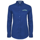 Ladies Royal Twill Button Down Long Sleeve-Arched Islanders