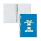 Clear 7 x 10 Spiral Journal Notebook-Texas A&M Corpus Christi Islanders