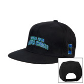 Black Flat Bill Snapback Hat-Arched Texas A&M Corpus Christi