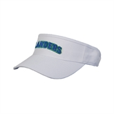 White Brushed Bull Denim Visor-Arched Islanders