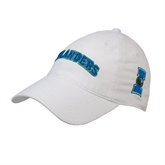 White Twill Unstructured Low Profile Hat-Arched Islanders