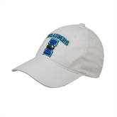 White Twill Unstructured Low Profile Hat-Islanders w/I