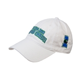 White Twill Unstructured Low Profile Hat-Arched Texas A&M Corpus Christi