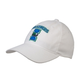 White OttoFlex Unstructured Low Profile Hat-Islanders w/I