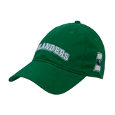 Kelly Green Twill Unstructured Low Profile Hat-Arched Islanders