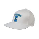 White OttoFlex Flat Bill Pro Style Hat-Islanders w/I