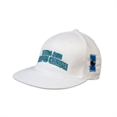 White OttoFlex Flat Bill Pro Style Hat-Arched Texas A&M Corpus Christi