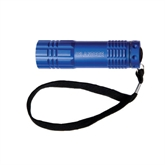 Industrial Triple LED Blue Flashlight-Islanders Engraved