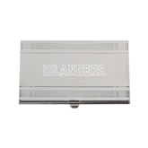 Crosshatch Silver Business Card Holder-Islanders Engraved