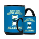 Full Color Black Mug 15oz-Texas A&M Corpus Christi Islanders