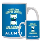Alumni Full Color White Mug 15oz-Texas A&M Corpus Christi Islanders