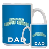Dad Full Color White Mug 15oz-Arched Texas A&M Corpus Christi